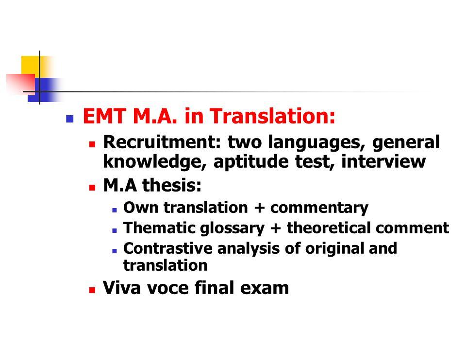 EMT M.A.