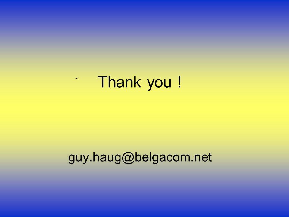 Thank you ! guy.haug@belgacom.net -