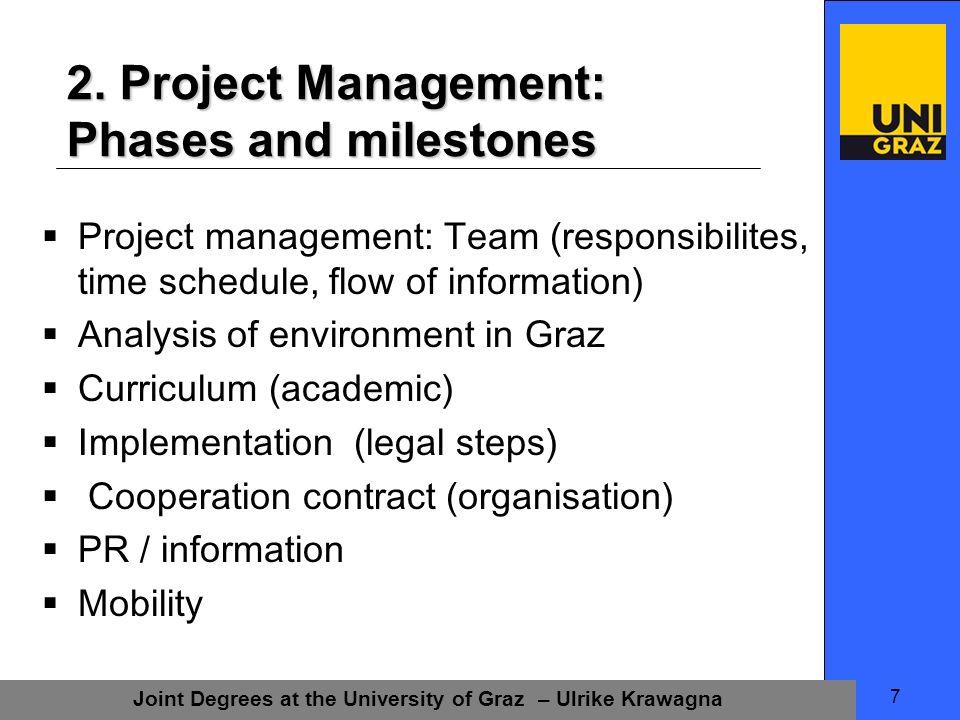 Joint Degrees at the University of Graz – Ulrike Krawagna 8 2.