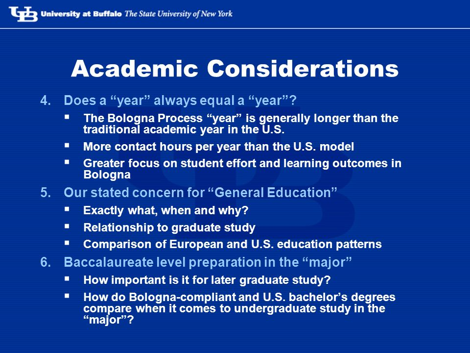 Academic Considerations 4.Does a year always equal a year.