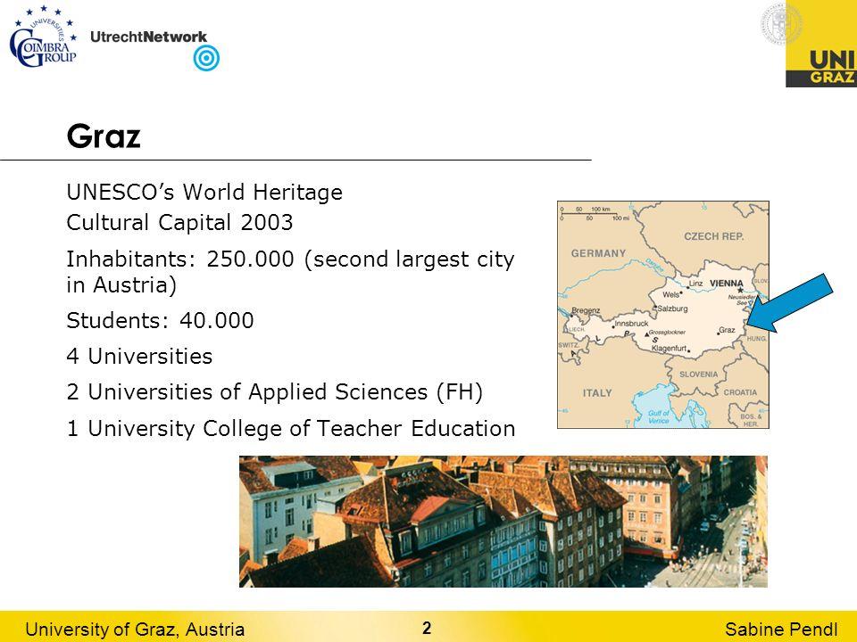 3 University of Graz, AustriaSabine Pendl The University