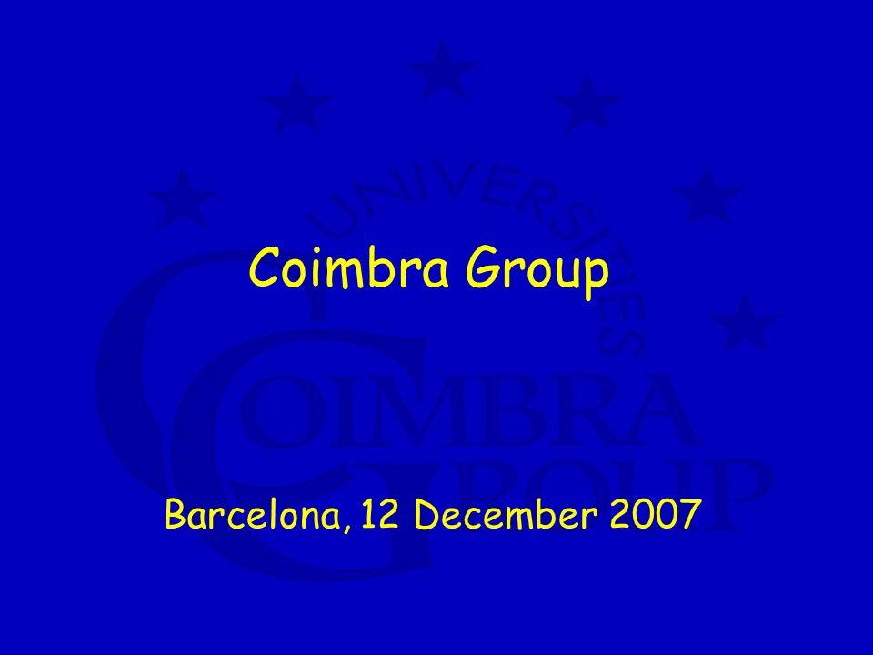 Coimbra Group Barcelona, 12 December 2007
