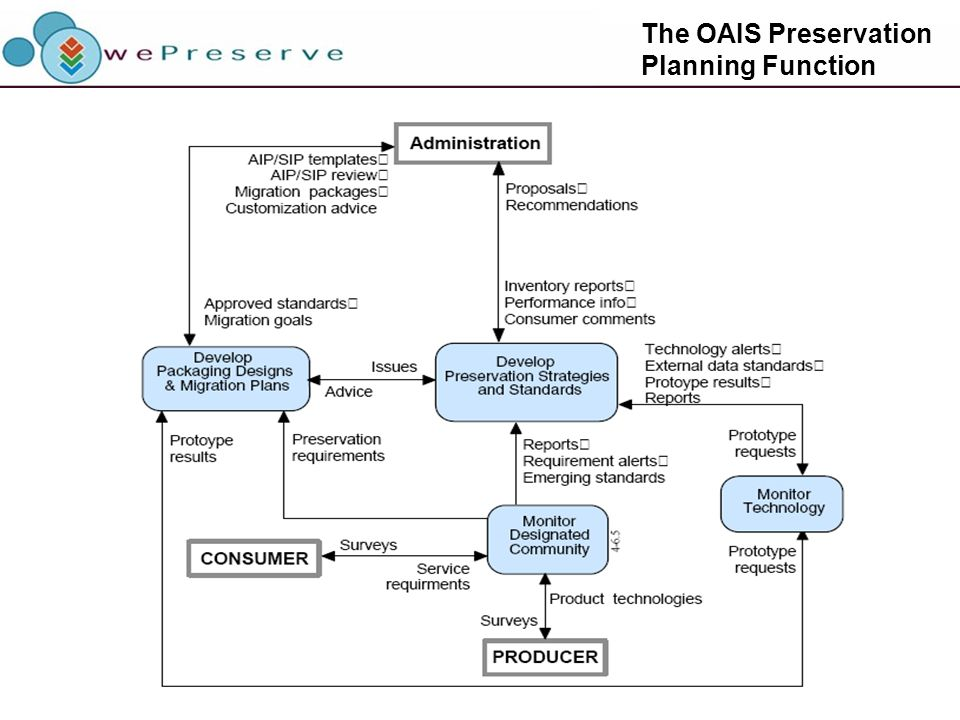 The OAIS Preservation Planning Function