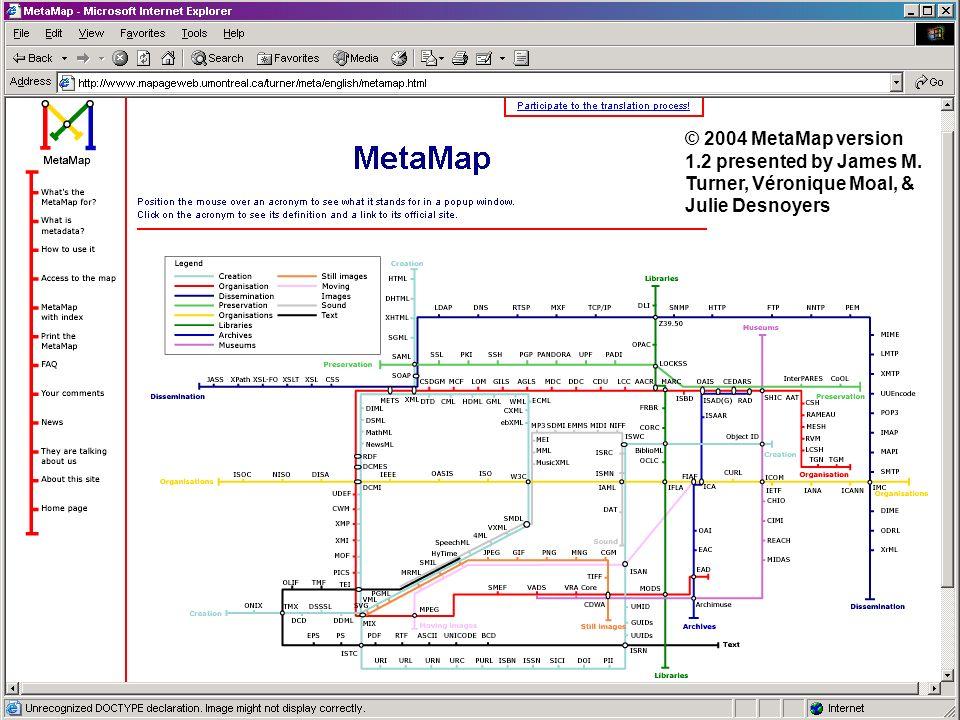 © 2004 MetaMap version 1.2 presented by James M. Turner, Véronique Moal, & Julie Desnoyers