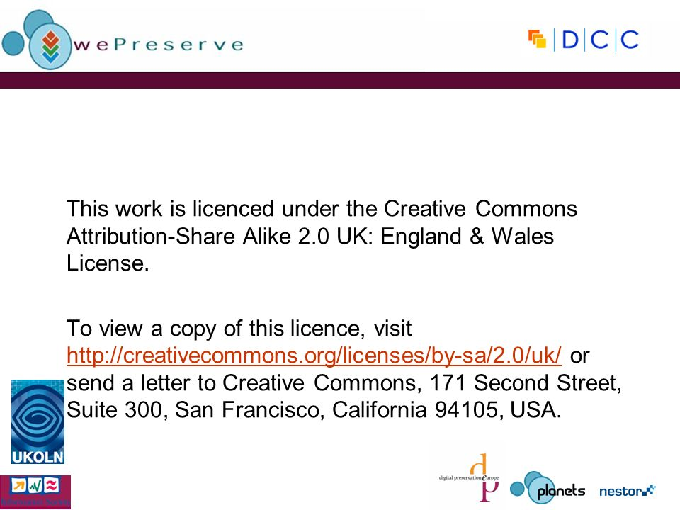 This work is licenced under the Creative Commons Attribution-Share Alike 2.0 UK: England & Wales License. To view a copy of this licence, visit http:/