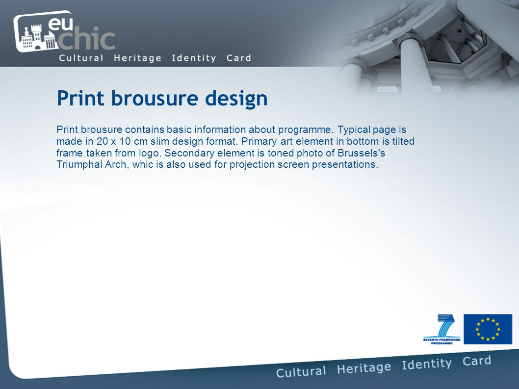 Print brousure design Print brousure contains basic information about programme.