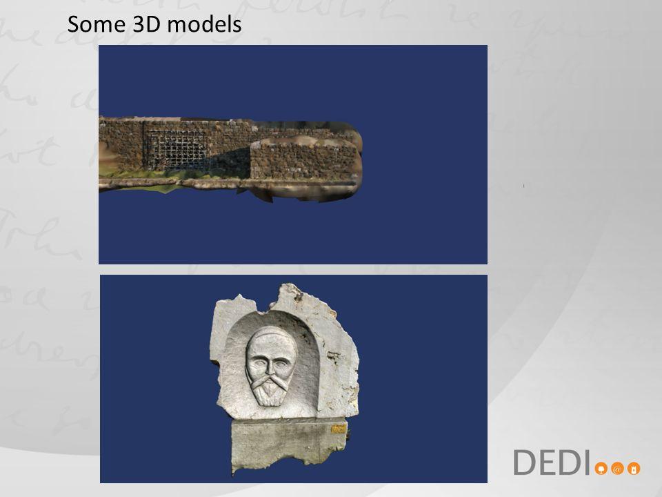 Some 3D models
