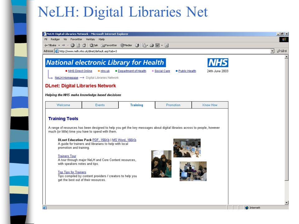 NeLH: Digital Libraries Net