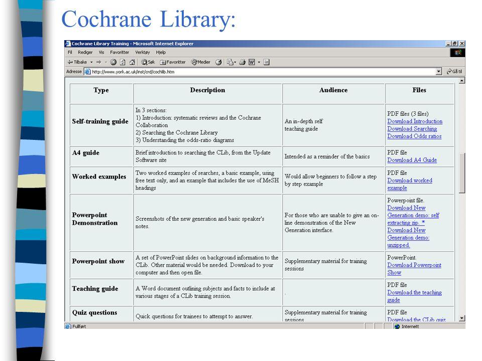 Cochrane Library: