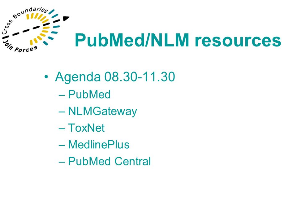 PubMed allows users to access a superset of NLM s MEDLINE database containing MEDLINE, in-process citations and articles from selectively indexed journals that normally would not be selected for MEDLINE indexing PubMed/NLM resources