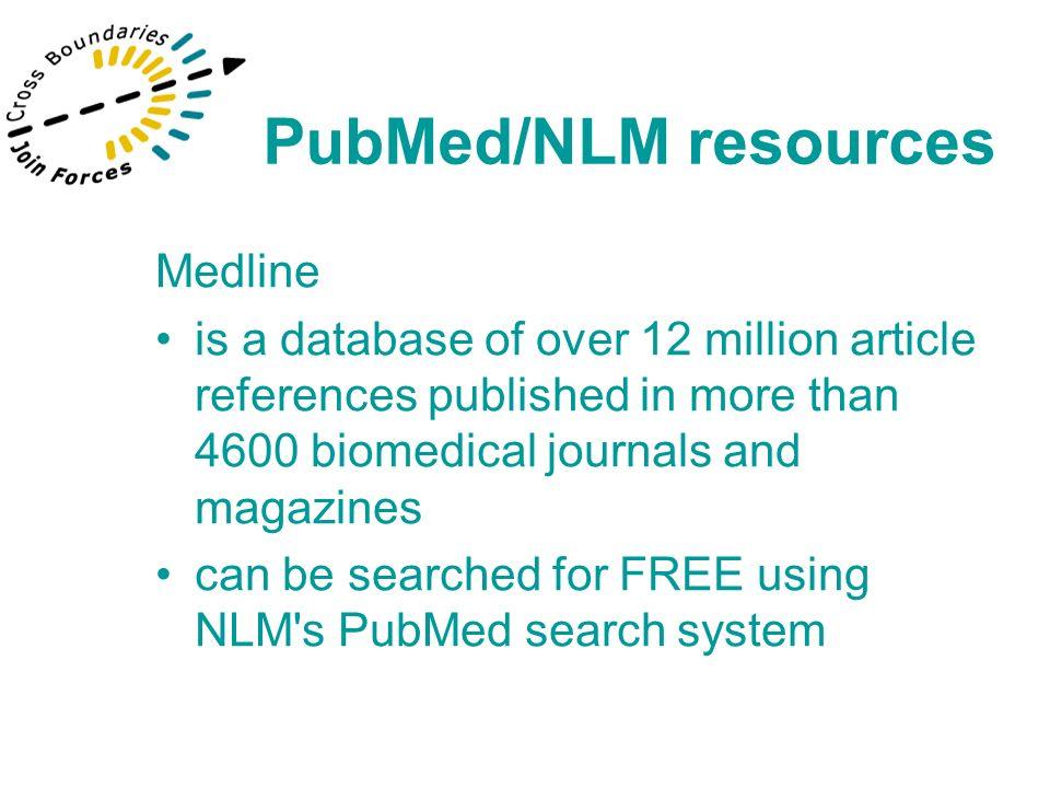 NLM Gateway –One stop searching including- Oldmedline 1953-1965 PubMed/NLM resources