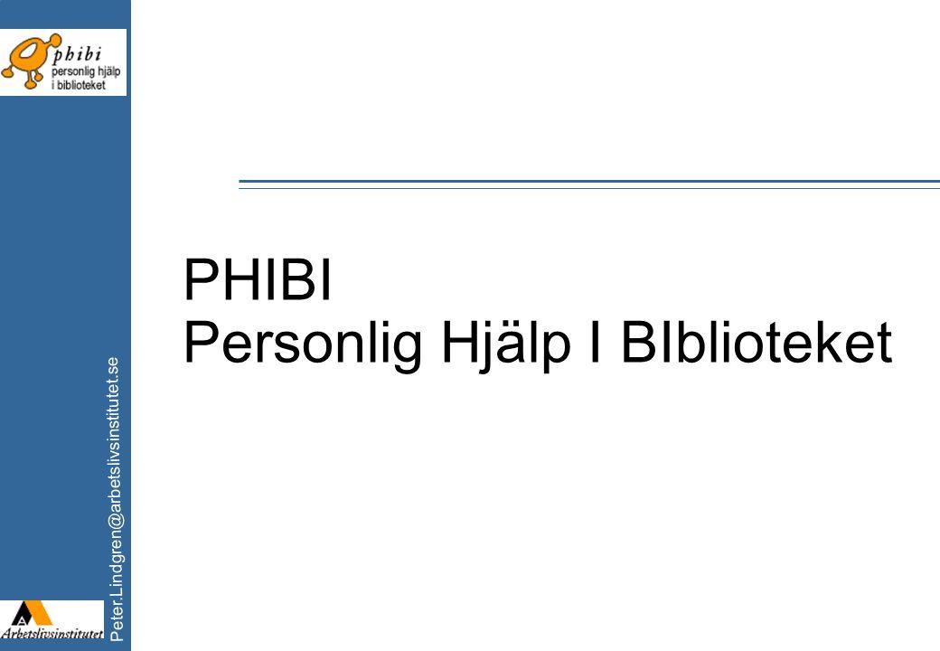 PHIBI Personlig Hjälp I BIblioteket