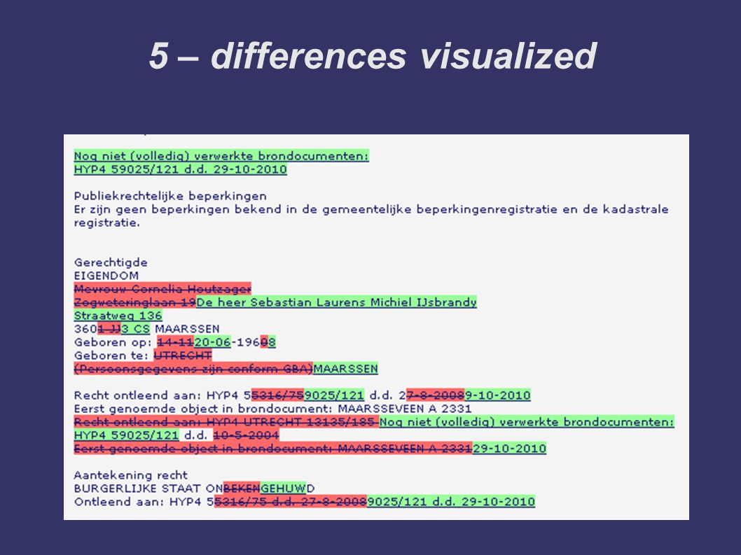5 – differences visualized