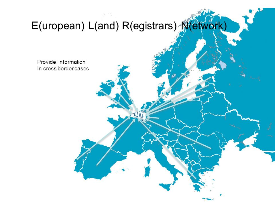 E(uropean) L(and) R(egistrars) N(etwork) Provide information In cross border cases