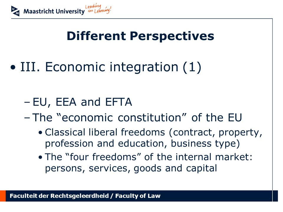 Faculteit der Rechtsgeleerdheid / Faculty of Law Different Perspectives III.