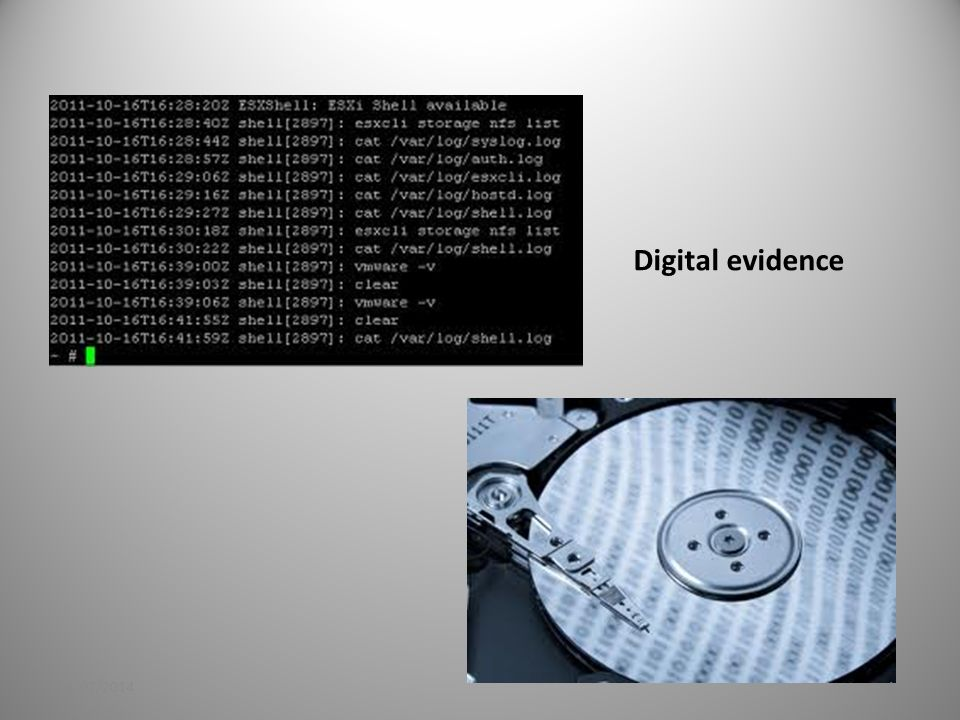 Digital evidence 21/02/201413