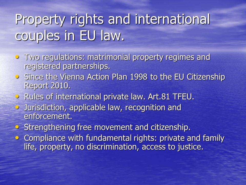 General aspects.Family law. Unanimity. Art. 81.3 TFEU.