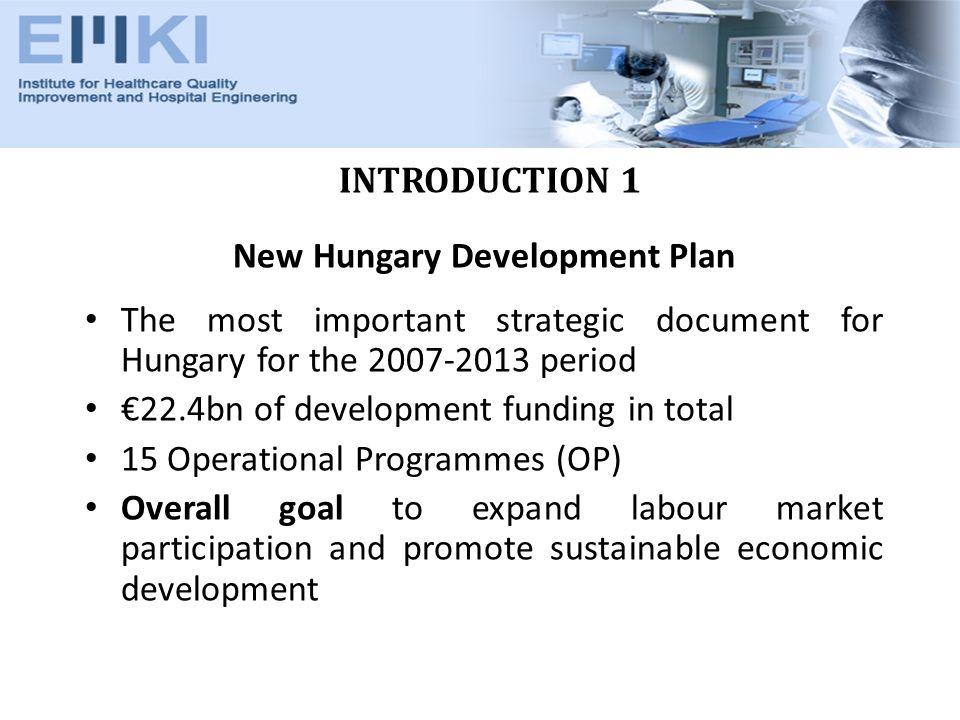 INTRODUCTION 2 Key Documents 1.New Hungary Development Plan 2.