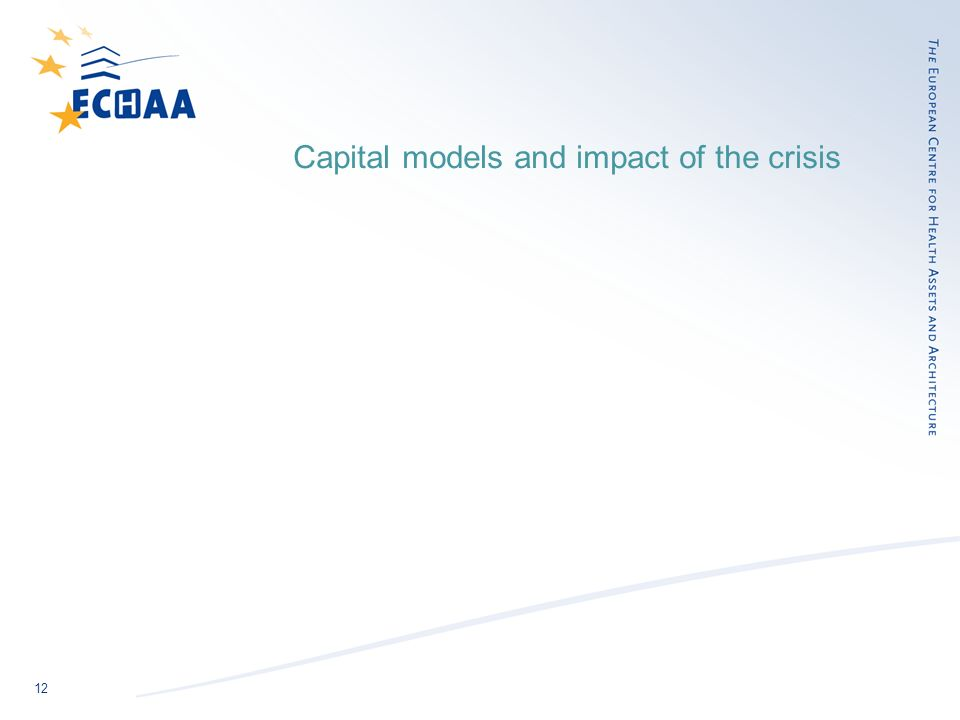 12 Capital models and impact of the crisis