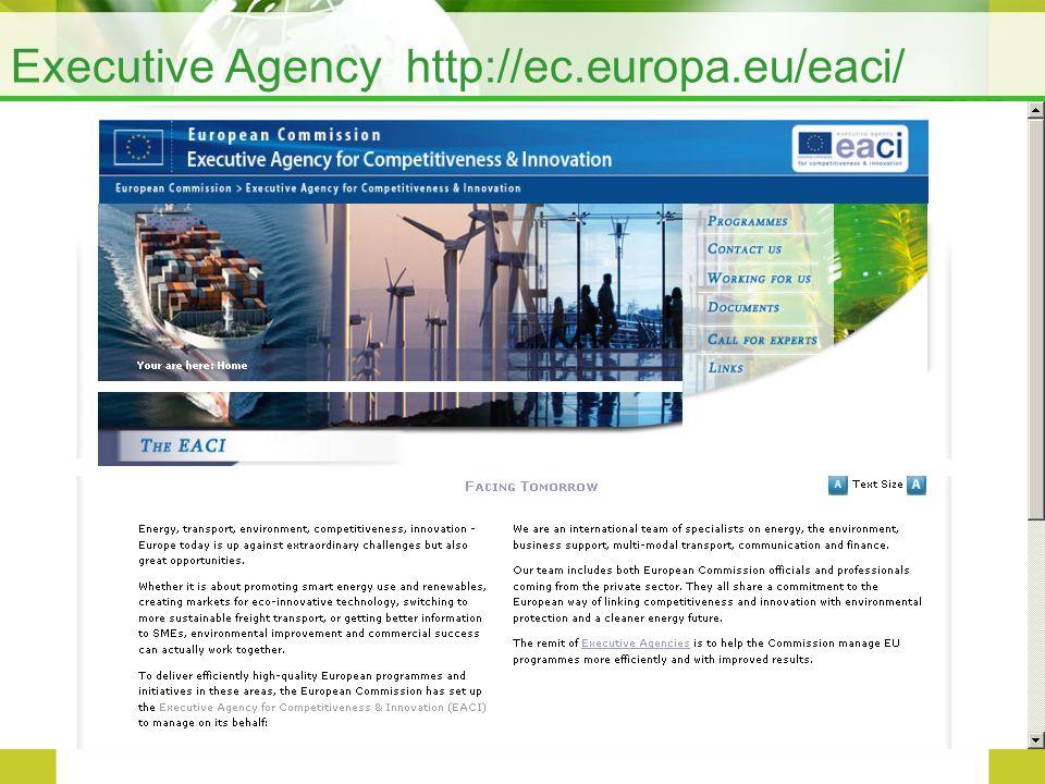 Executive Agency http://ec.europa.eu/eaci/