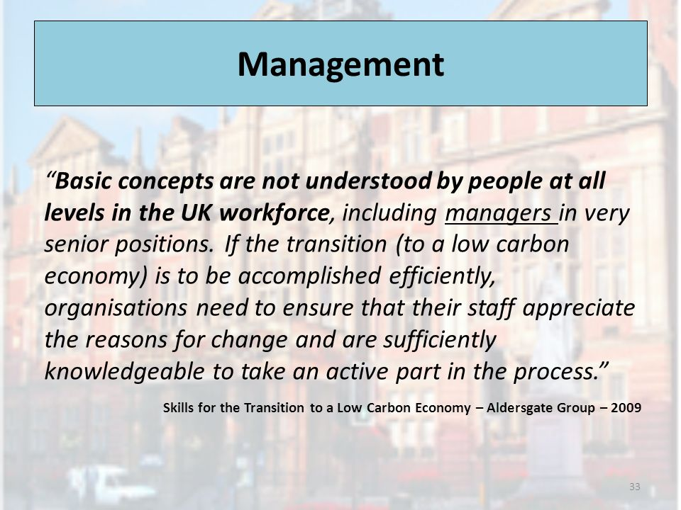 Management Basic concepts are not understood by people at all levels in the UK workforce, including managers in very senior positions.