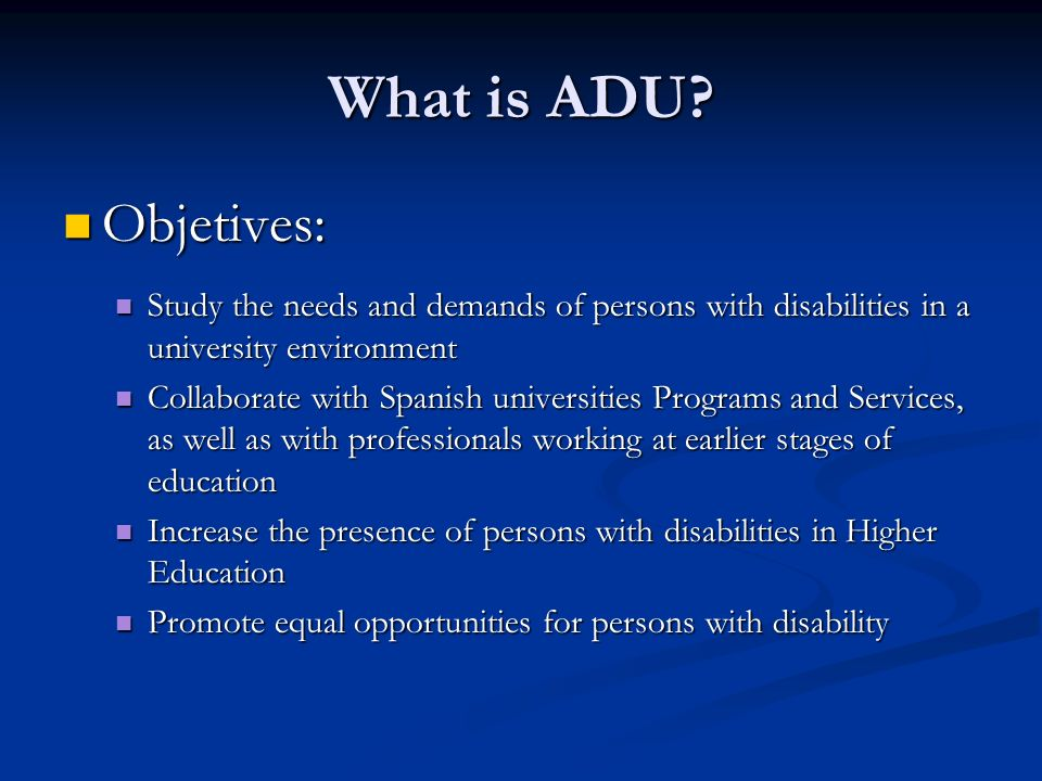 What is ADU.