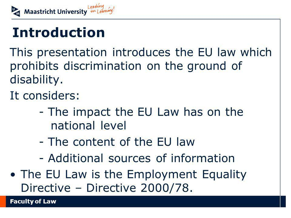 Faculty of Law Instruction to discriminate