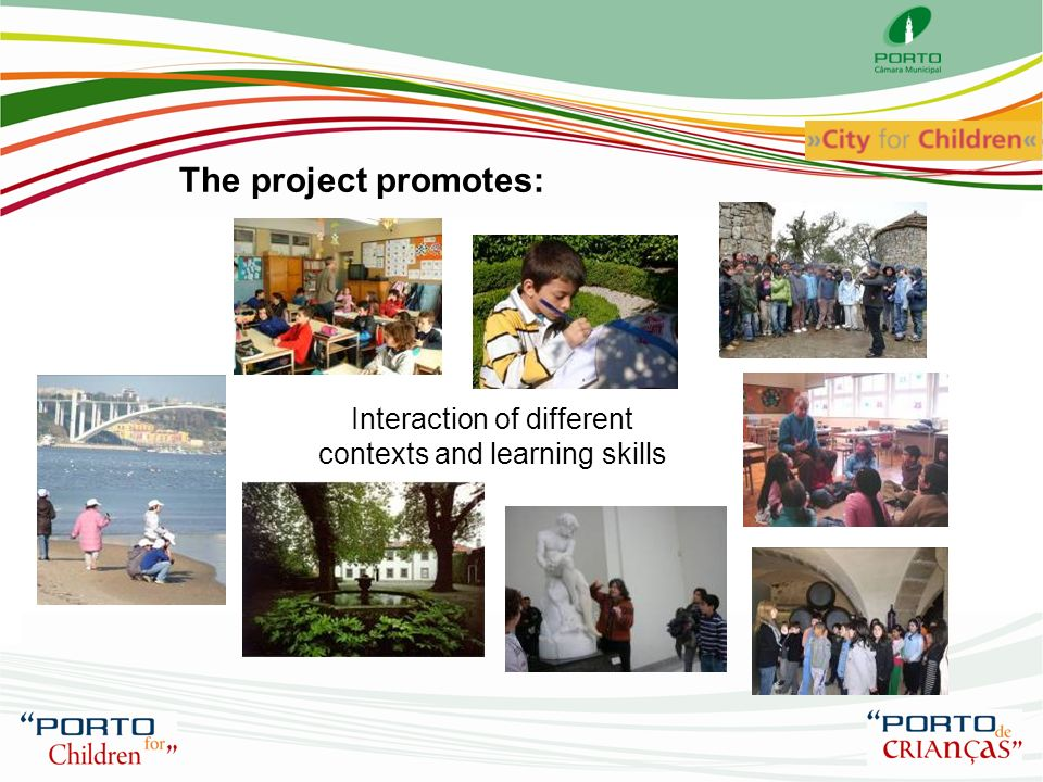 The project promotes: Books Hospital Civic training through exploration citys physical, environmental, artistic and cultural heritage Public Libraries