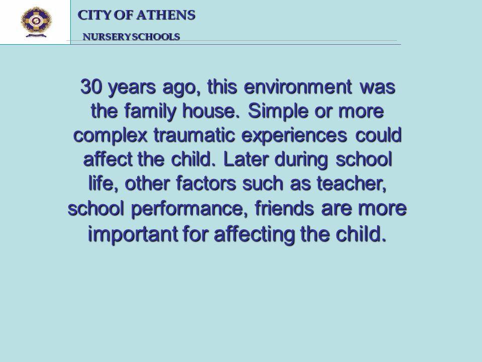 CITY OF ATHENS CITY OF ATHENS NURSERY SCHOOLS NURSERY SCHOOLS