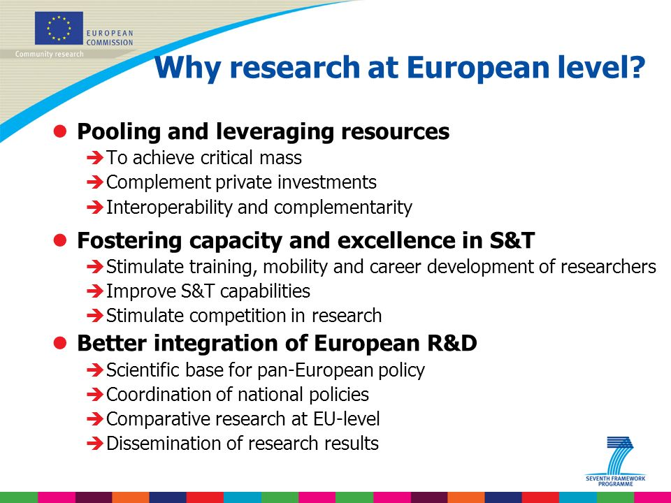 Indridi Benediktsson Why research at European level.