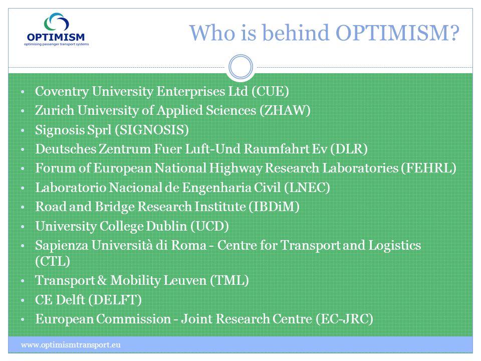 Who is behind OPTIMISM.