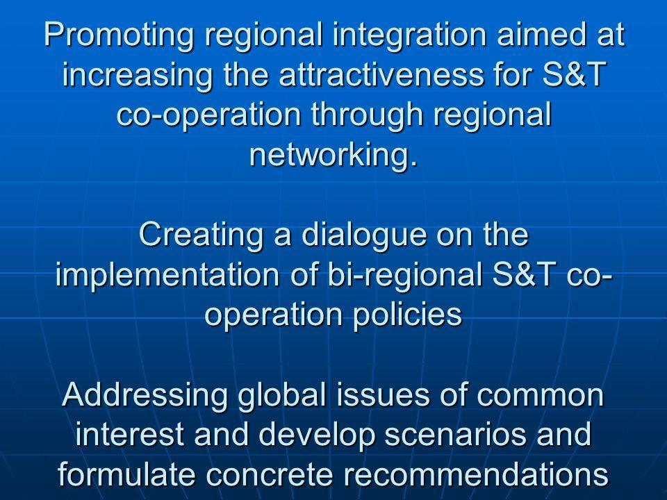 Resume of overall aim of WP2 Enhancement of the S&T policy dialogue among political stakeholders from the partner countries aimed at: Exchanging views