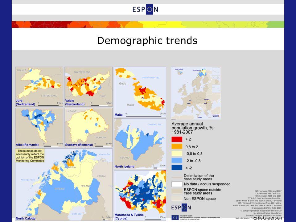 Erik Gløersen Demographic trends