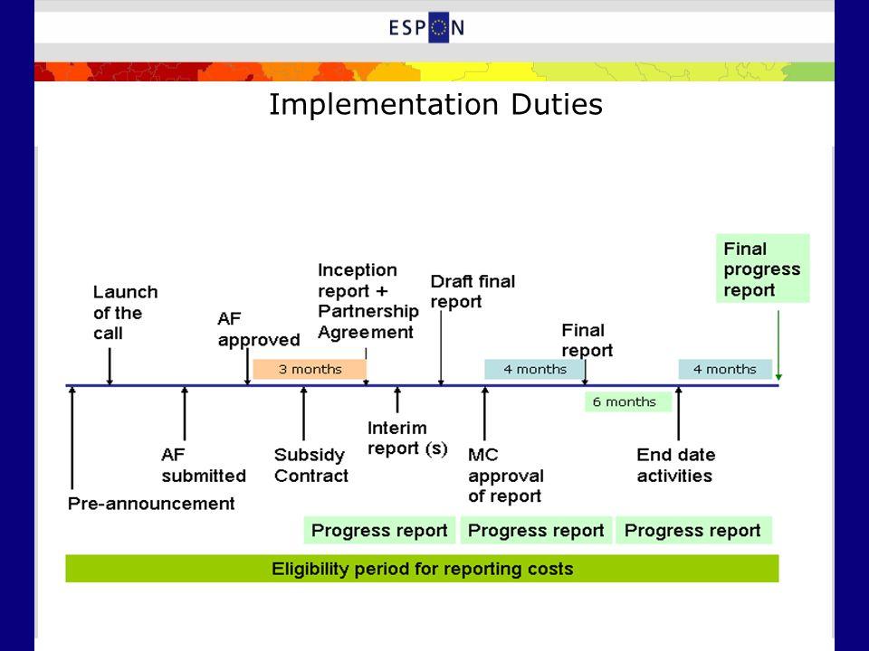 Implementation Duties