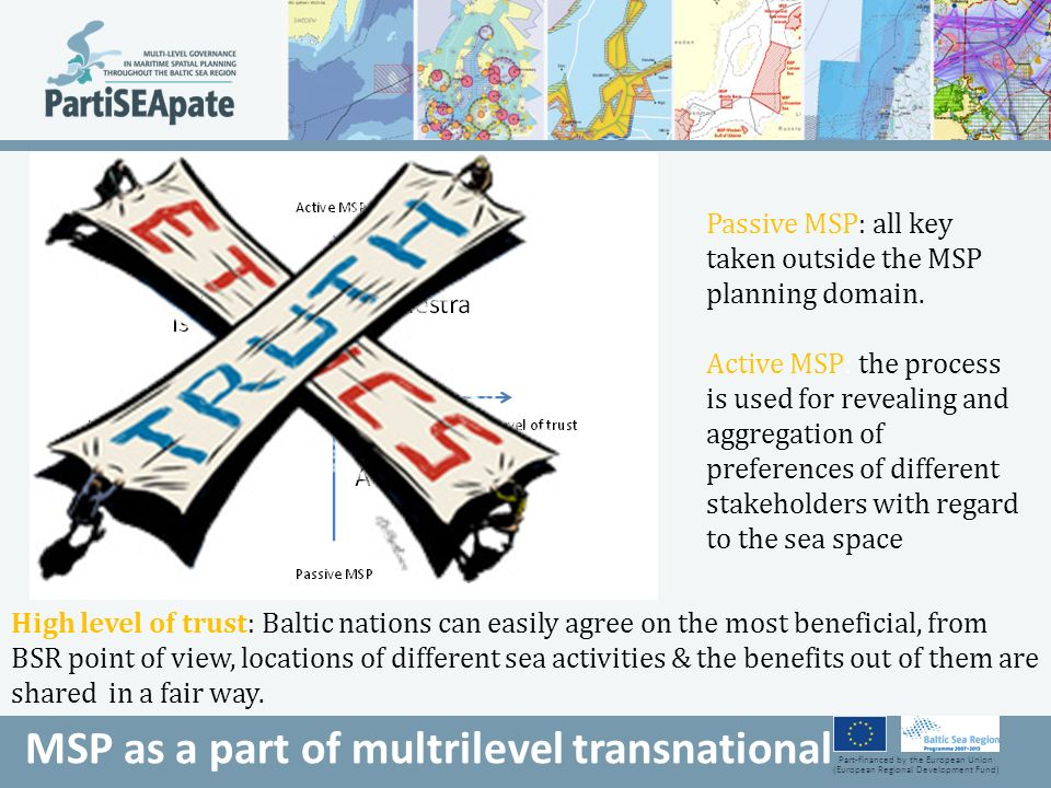 Part-financed by the European Union (European Regional Development Fund) MSP as a part of multrilevel transnational Passive MSP: all key taken outside