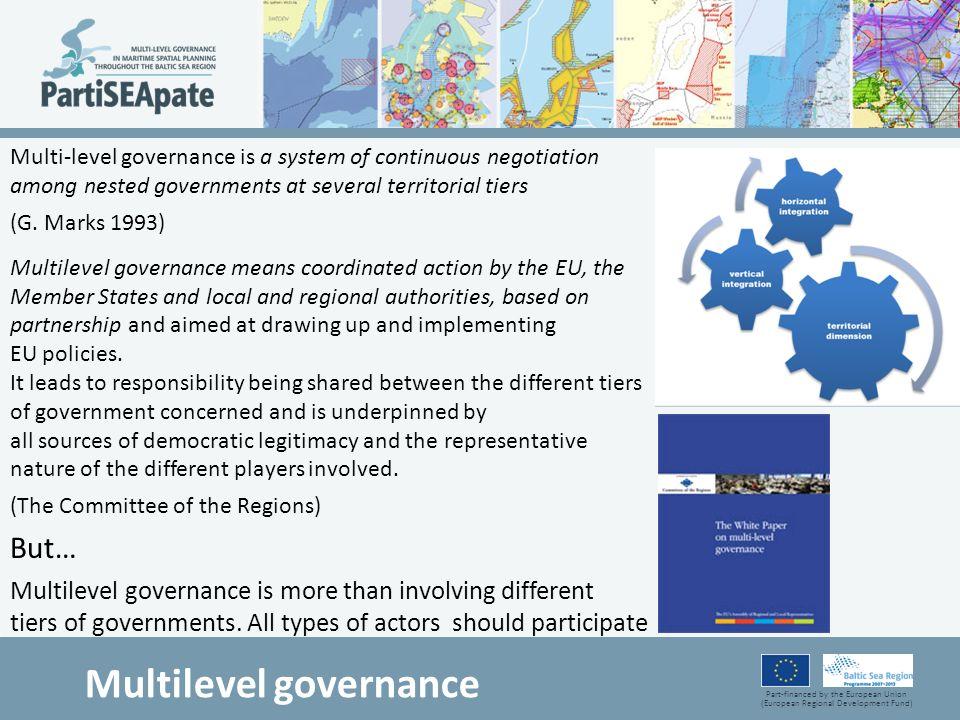 Part-financed by the European Union (European Regional Development Fund) Multilevel and transnational governance EU Baltic actors: e.g.