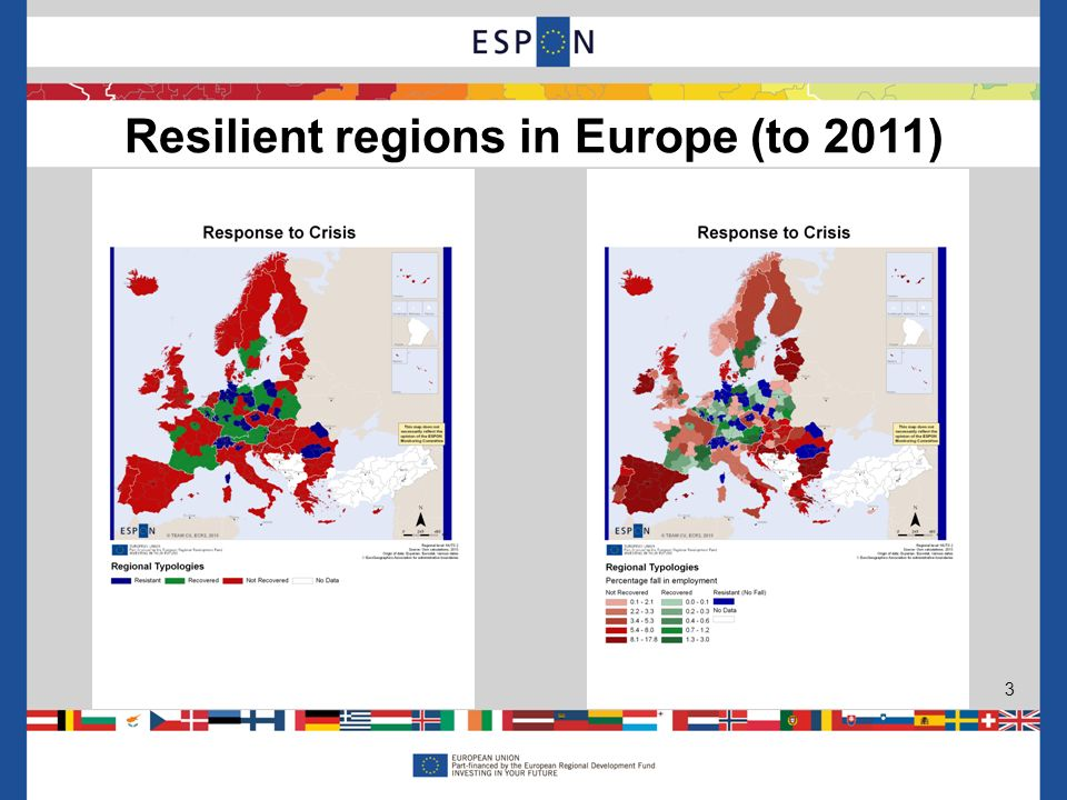 Resilient regions in Europe (to 2011) 3