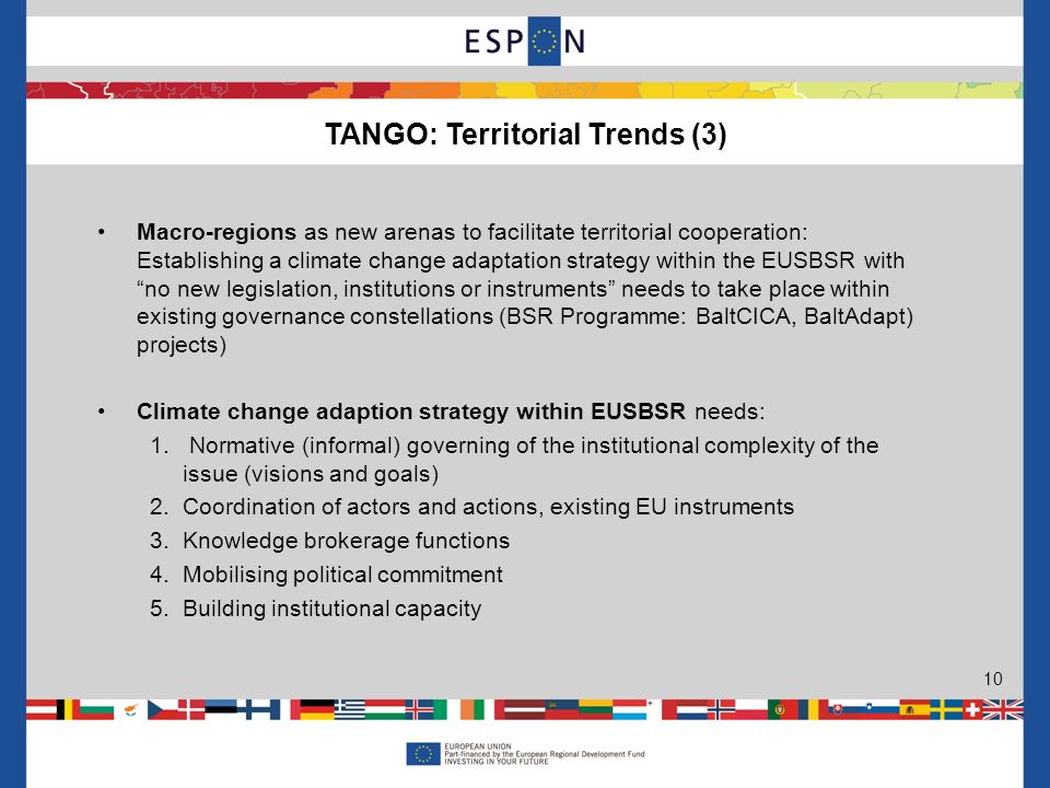 Macro-regions as new arenas to facilitate territorial cooperation: Establishing a climate change adaptation strategy within the EUSBSR withno new legi