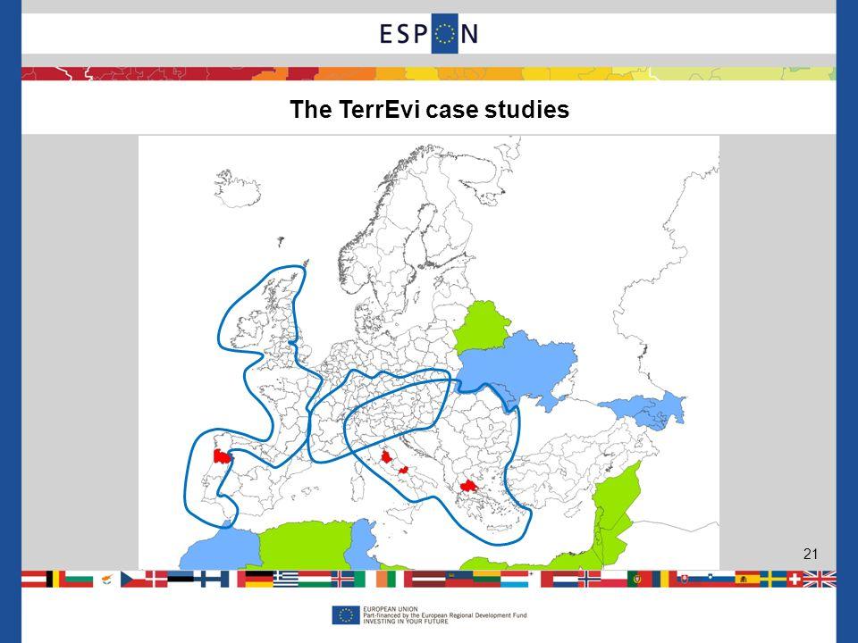 The TerrEvi case studies 21