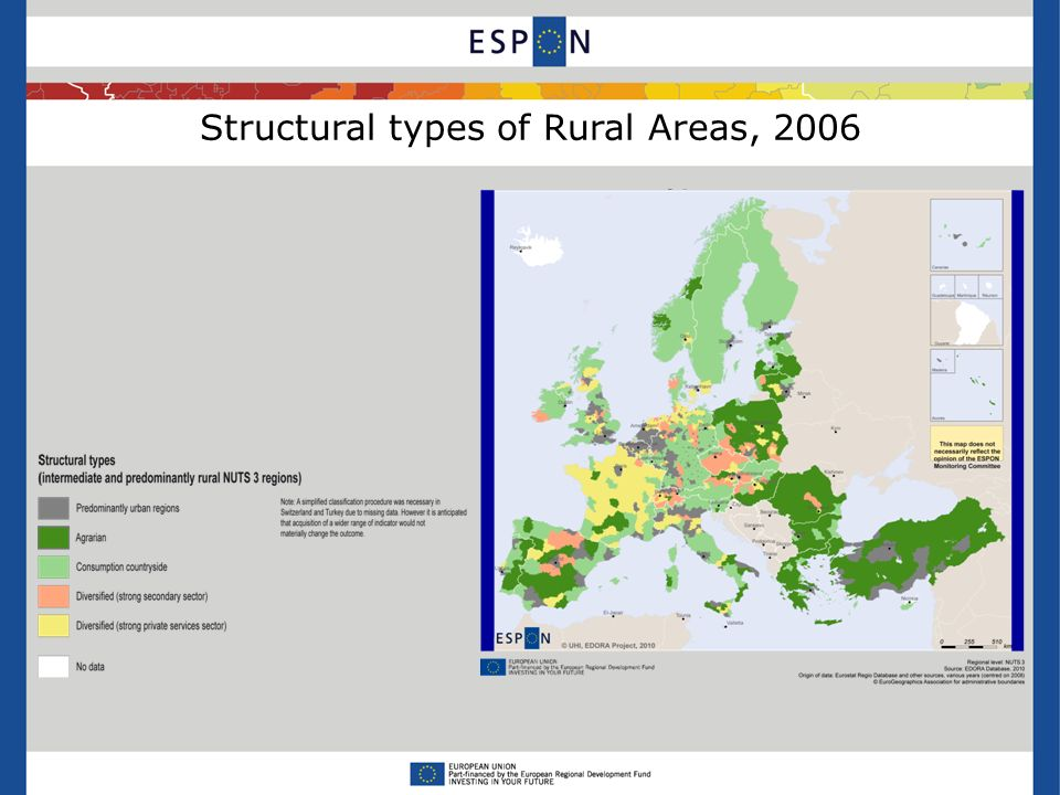 Structural types of Rural Areas, 2006