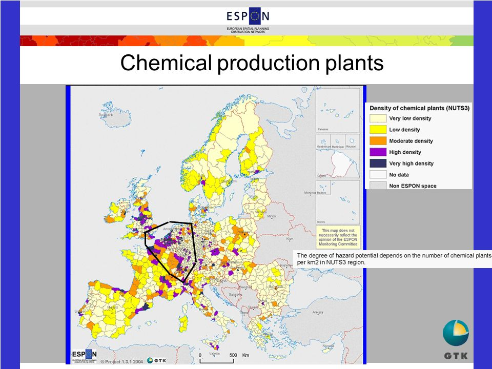 Chemical production plants