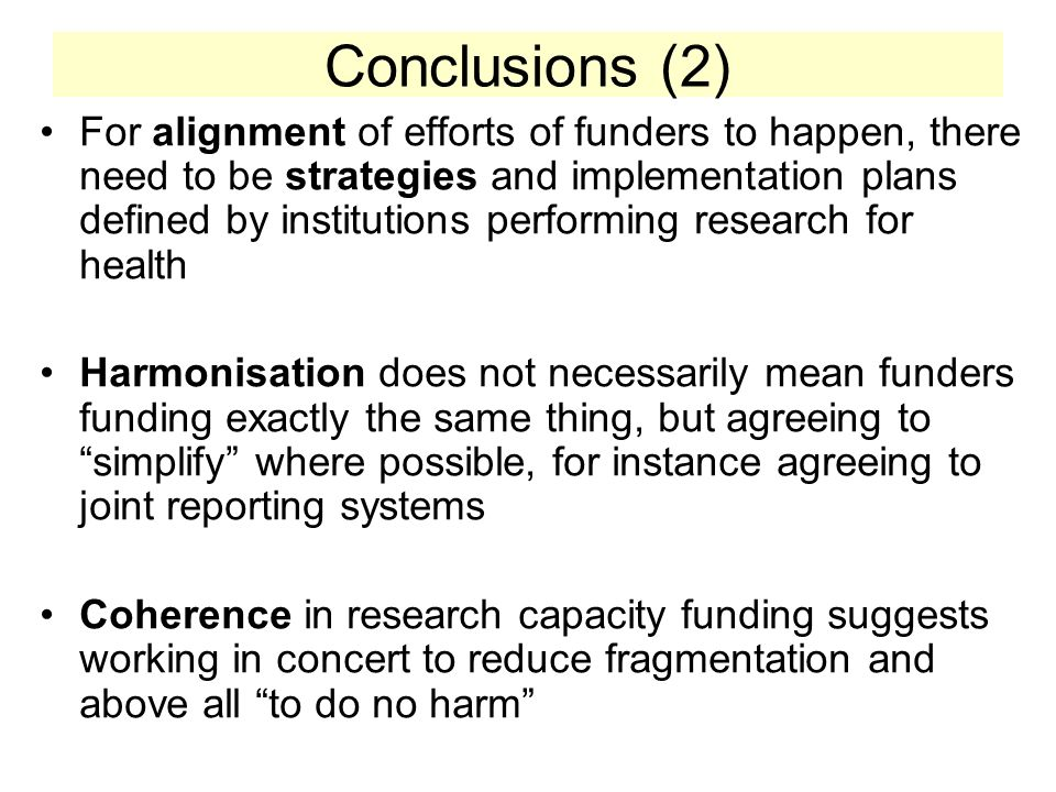 What ESSENCE is Not It is not a research (R&D) project but it must be driven by research activities Not a new initiative for disbursing research project funds but a mechanism of funders funding low-income African country strategies of research capacity in a concerted fashion Not a budget support arrangement but could involve basket funding when possible It is not trying to coordinate and define the research for health research performed, but seeking to find appropriate research capacity strengthening modalities in low income countries which if leveraged could have significant impact