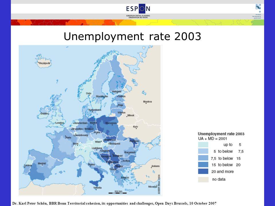 Unemployment rate 2003