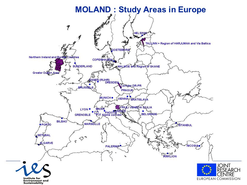 MOLAND : Study Areas in Europe