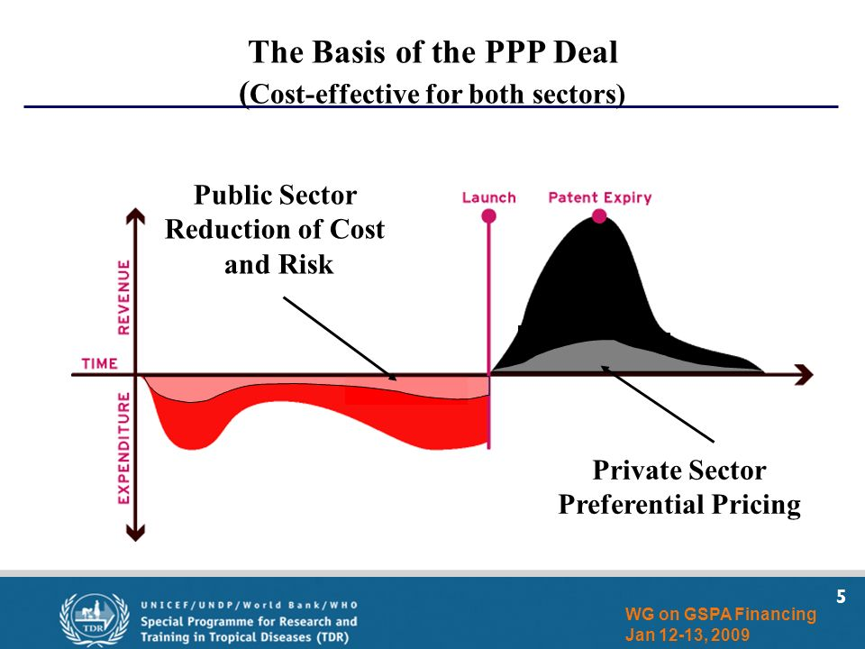 5 WG on GSPA Financing Jan 12-13, 2009 Private Sector Preferential Pricing Public Sector Reduction of Cost and Risk The Basis of the PPP Deal ( Cost-effective for both sectors)
