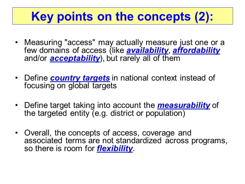 Key points on the concepts (2): Measuring