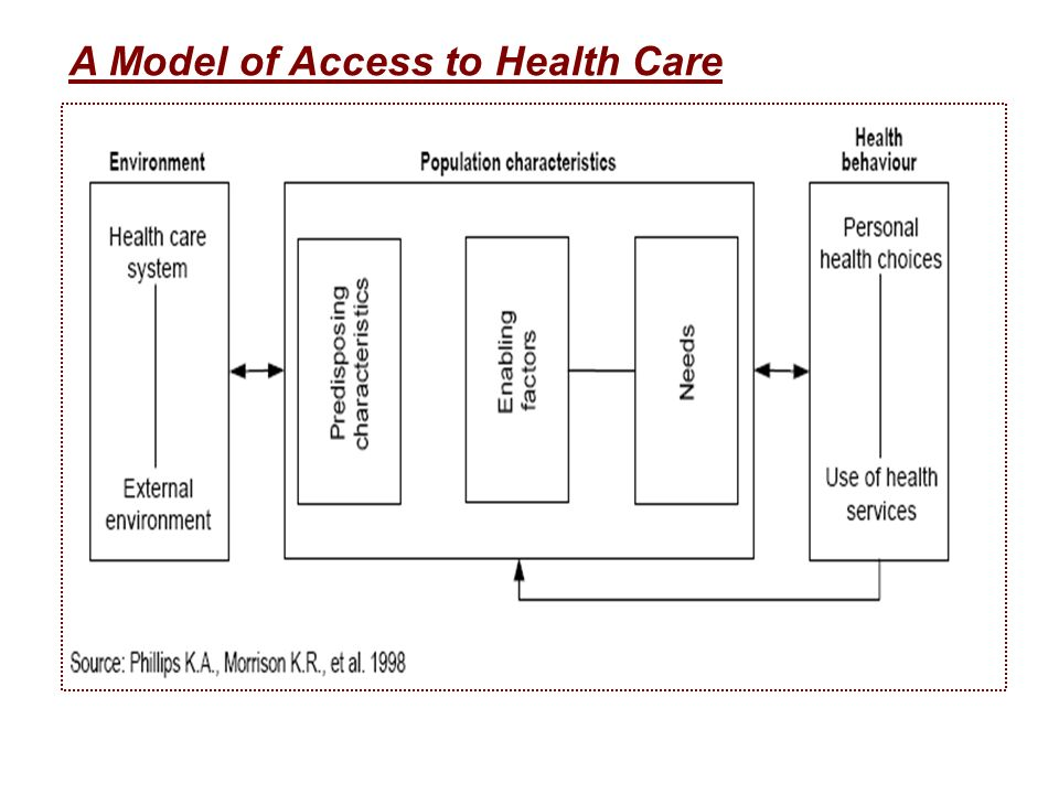 A Model of Access to Health Care