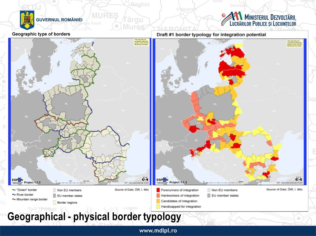 Geographical - physical border typology