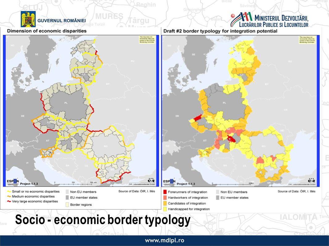 Socio - economic border typology