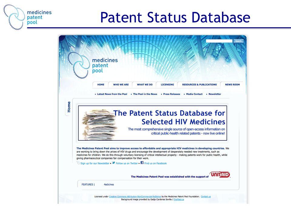 Patent Status Database